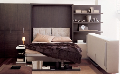 Atoll wall bed with corner sofa (opened)