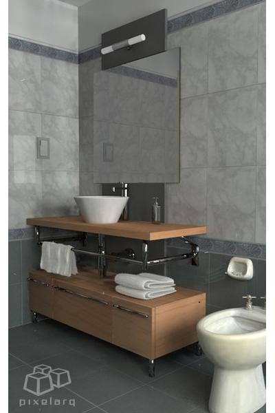 Blender3D bathroom render